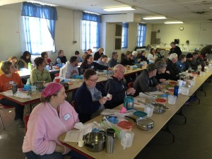 Eager Attendees to the January 2015 Beeswax Soap-making Class
